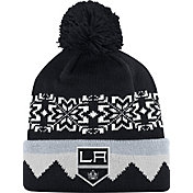 adidas Men's Los Angeles Kings Ugly Sweater Black Pom Knit Beanie