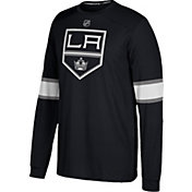 adidas Men's Los Angeles Kings Jersey Black Long Sleeve Shirt