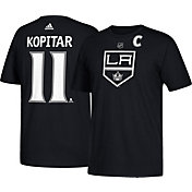 adidas Men's Los Angeles Kings Anze Kopitar #11 Black T-Shirt