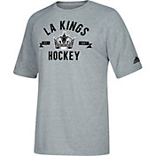 adidas Men's Los Angeles Kings Misconduct Performance Heather Grey T-Shirt