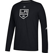 adidas Men's Los Angeles Kings Primary Position Ultimate Black Long Sleeve Shirt
