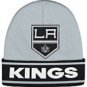 adidas Men's Los Angeles Kings Logo Grey Knit Beanie