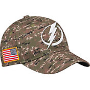 adidas Men's Tampa Bay Lightning Camo Structured Fitted Flex Hat