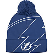adidas Men's Tampa Bay Lightning Logo Royal Pom Knit Beanie