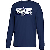 adidas Men's Tampa Bay Lightning Dassler Navy Long Sleeve Shirt