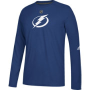adidas Men's Tampa Bay Lightning Primary Position Ultimate Royal Long Sleeve Shirt