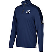 adidas Men's Tampa Bay Lightning Authentic Pro Royal Quarter-Zip Jacket