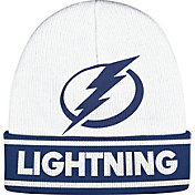 adidas Men's Tampa Bay Lightning Logo White Knit Beanie
