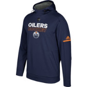 adidas Men's Edmonton Oilers Authentic Pro Player Navy Performance Pullover Hoodie