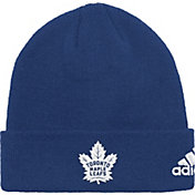 adidas Men's Toronto Maple Leafs Basic Navy Knit Beanie