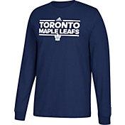 adidas Men's Montreal Canadiens Dassler Navy Long Sleeve Shirt