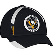 adidas Men's Pittsburgh Penguins Practice Structured Black Flex Hat