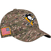 adidas Men's Pittsburgh Penguins Camo Structured Fitted Flex Hat
