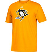 adidas Men's Pittsburgh Penguins Big Logo Gold T-Shirt