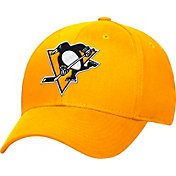adidas Men's Pittsburgh Penguins Logo Alternate Colored Basic Structured Gold Flex Hat