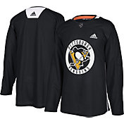 adidas Men's Pittsburgh Penguins Authentic Pro Black Practice Jersey