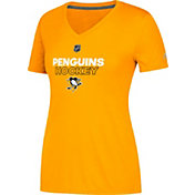 adidas Women's Pittsburgh Penguins Authentic Ice Ultimate Gold Performance V-Neck T-Shirt