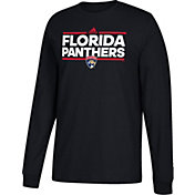 adidas Men's Florida Panthers Dassler Black Long Sleeve Shirt