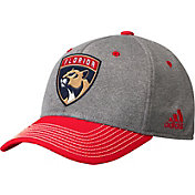 adidas Men's Florida Panthers Two-Color Heather Grey/Red Snapback Adjustable Hat