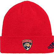 adidas Men's Florida Panthers Basic Red Knit Beanie
