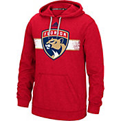 adidas Men's Florida Panthers Heather Red Pullover Hoodie