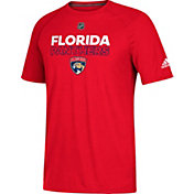 adidas Men's Florida Panthers Authentic Ice Ultimate Red Performance T-Shirt