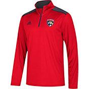 adidas Men's Florida Panthers Red Performance Quarter-Zip Jacket