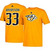adidas Men's Nashville Predators Viktor Arvidsson #33 Gold T-Shirt