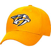 adidas Men's Nashville Predators Logo Team Colored Basic Structured Gold Flex Hat