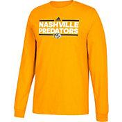 adidas Men's Nashville Predators Dassler Gold Long Sleeve Shirt