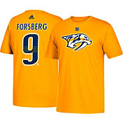 adidas Men's Nashville Predators Filip Forsberg #9 Gold T-Shirt