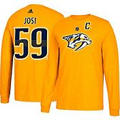 adidas Men's Nashville Predators Roman Josi #59 Gold Long Sleeve Shirt