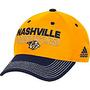 adidas Men's Nashville Predators Locker Room Gold Structured Fitted Flex Hat