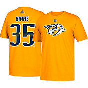 adidas Men's Nashville Predators Pekka Rinne #35 Gold T-Shirt
