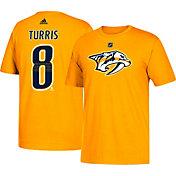 adidas Men's Nashville Predators Kyle Turris #8 Gold T-Shirt