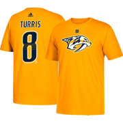 adidas Men's Nashville Predators Kyle Turris #8 Gold T-Shirt