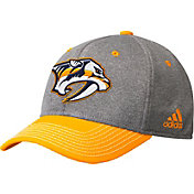 adidas Men's Nashville Predators Two-Color Heather Grey/Gold Snapback Adjustable Hat