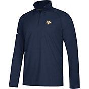 adidas Men's Nashville Predators Logo Ultimate Navy Performance Quarter-Zip Pullover