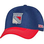 CCM Men's New York Rangers Navy Slouch Adjustable Hat