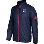 adidas Men's New York Rangers Authentic Rink Navy Full-Zip Jacket