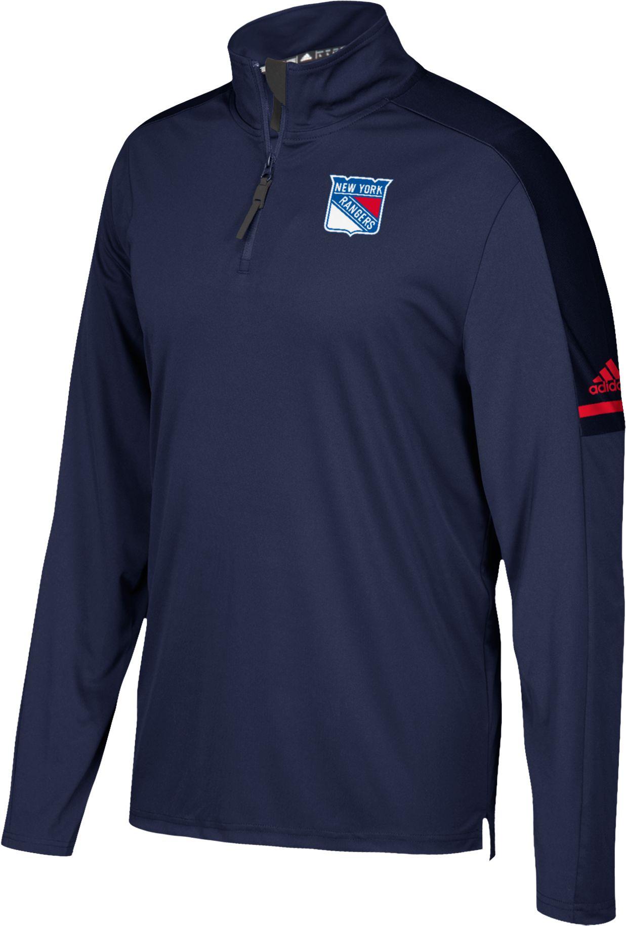 ... New Product Image · adidas Mens New York Rangers Authentic Pro Navy  Quarter-Zip Jacket New York Rangers Hoodies ... 91af8fd3d