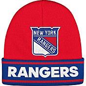 adidas Men's New York Rangers Logo Red Knit Beanie