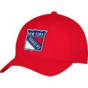 adidas Men's New York Rangers Alternate Colored Basic Structured Red Flex Hat