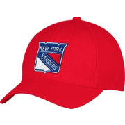 adidas Men's New York Rangers Alternate Colored Basic Structured Red Flex Hat
