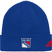 adidas Men's New York Rangers Basic Royal Knit Beanie
