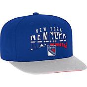 adidas Men's New York Rangers Flat Brim Royal Snapback Adjustable Hat