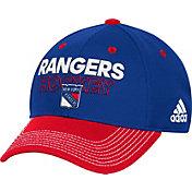 adidas Men's New York Rangers Locker Room Royal Structured Fitted Flex Hat