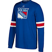 adidas Men's New York Rangers Jersey Royal Long Sleeve Shirt