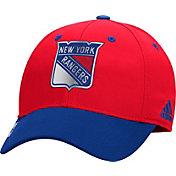 adidas Men's New York Rangers 100 Year Structured Red Flex Hat