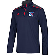 adidas Men's New York Rangers Navy Performance Quarter-Zip Jacket